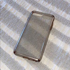 Silver/Glitter Speck iPhone 7+ case